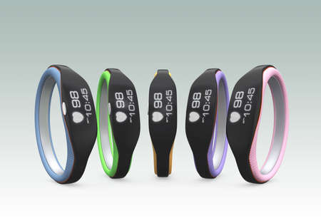 Color variation of smart wristbands photo