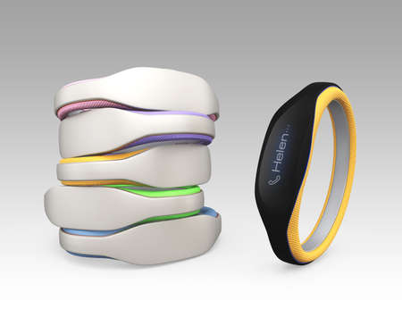 Color variation of smart wristbands