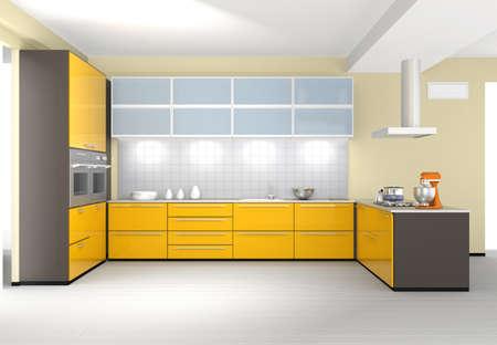 Stylish modern kitchen interior 版權商用圖片