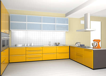 Stylish modern kitchen interior Banco de Imagens