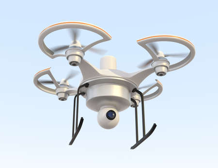 Air drone with camera flying in the sky 版權商用圖片 - 27987392