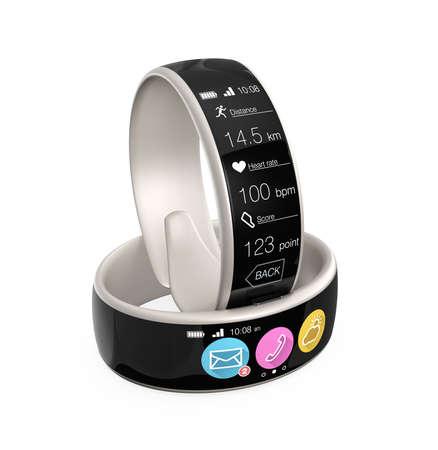 Smart wristbands isolated on white background Stock Photo