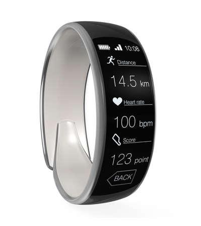 wristband: Smart wristband isolated on white background