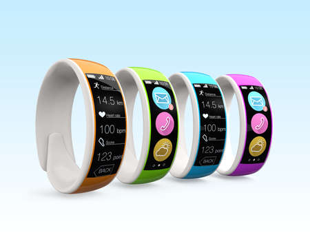 Colorful smart wristbands photo