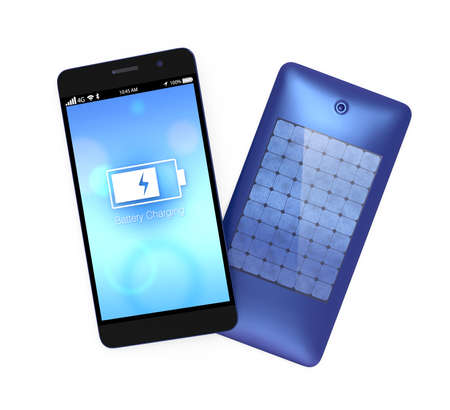 Smart phone and built-in solar panel system
