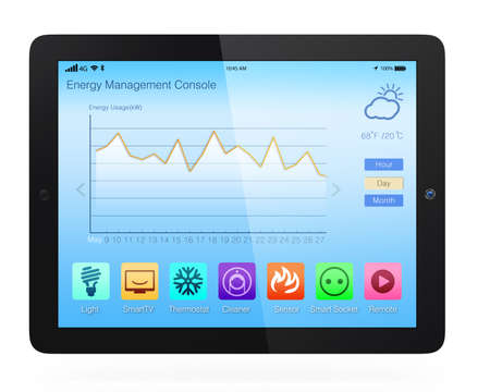 electric grid: Home energy management app for tablet PC