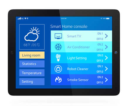 Home energy management app for tablet PC photo