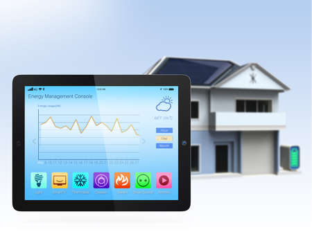 console: Tablet PC with home automation app