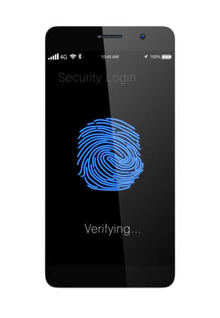 Fingerprint authentication system for smartphone photo