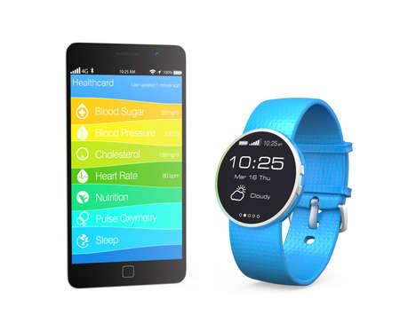 スマートな時計から健康とフィットネスの情報を同期します。