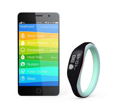 wristband: Health and fitness information synchronize from smart wristband