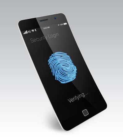 Fingerprint authentication for smart phone photo