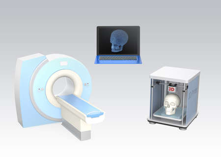 ct: CT scanner and 3D printer for tissue engineering concept