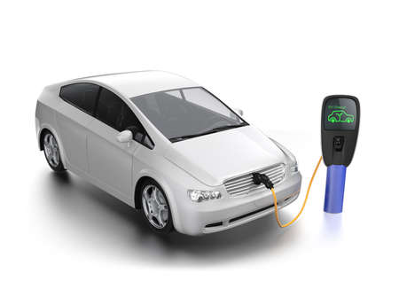 electric station: Electric car charging concept Stock Photo