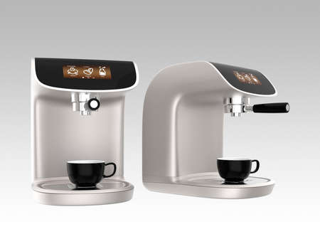 espresso machine: Stylish coffee machines with touch screen. Original design.