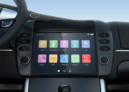 display screen: Smart touch screen multimedia system for automobile