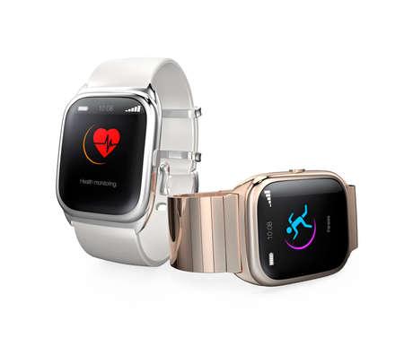 Stylish smart watches isolated on white background Stock Photo