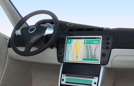 オリジナル デザインのスマート車ナビゲーション インターフェイス