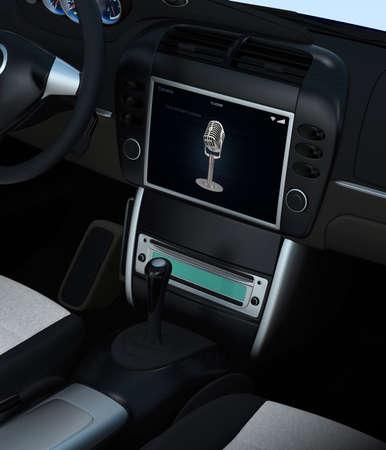 Smart car voice assistant system concept photo