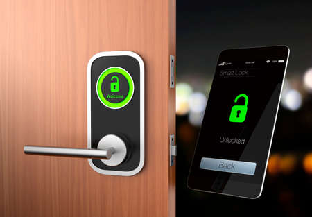 Concept de Smart Lock. design original Banque d'images - 36146160