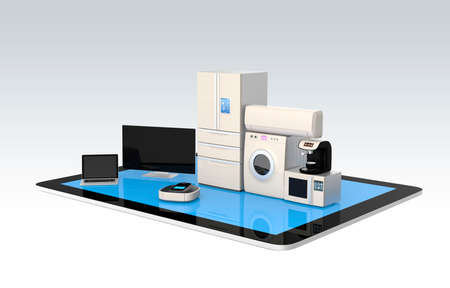 home automation: Smart home appliances on tablet PC for IoT concept