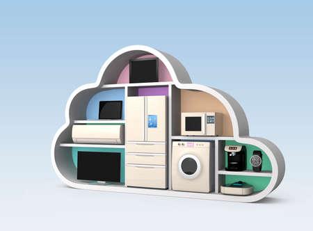 IOT 概念の雲の形で家電 写真素材 - 37427969