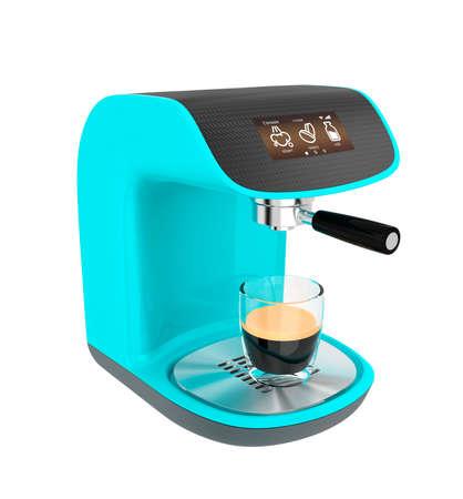 Stylish espresso coffee machine with touch screen photo