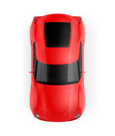 red sports car: Red sports car isolated on white background. Original design. 3D rendering image with clipping path.