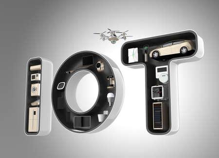 Word IoT のスマート家電は。物事のインターネットの消費者製品コンセプト。