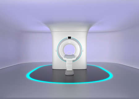 x ray equipment: MRI room with seamless ceiling design, make relax mood to reduce patients  stress. Original design.