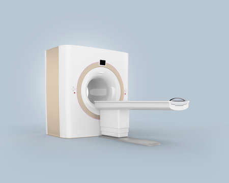 computer tomography: CTComputer Tomography scanner isolated on gray background. Clipping path available.