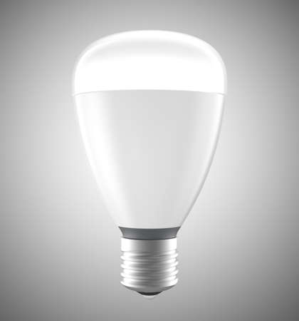 efficient: Energy efficient LED light bulbs isolated on gray background. 3D rendering image