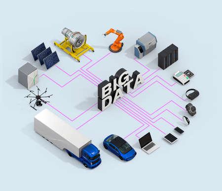 3D illustration of big data concept. Standard-Bild