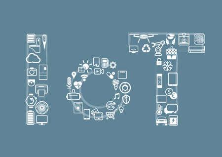 物事のインターネットの概念。ベクトルの図。