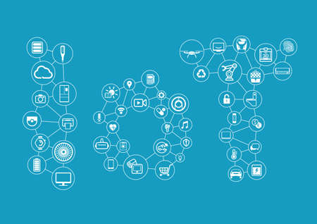 Internet of Things concept. Vector illustration.