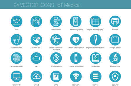 Icons set of Internet of Things. Vector illustration.