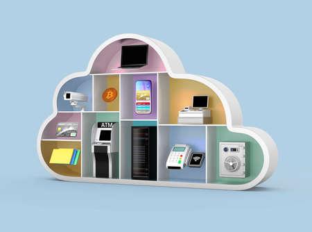 Fintech technology concept. 3D rendering image. Foto de archivo