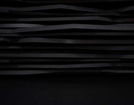 抽象的な黒い背景レイヤー構造。3 D レンダリング イメージ。