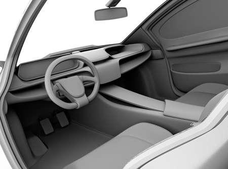 Klei model rendering van auto dashboard ontwerp. 3D-rendering afbeelding.