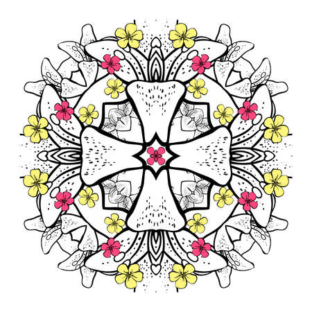 abstract floral: Abstract floral decoration. Vector illustration.  Illustration
