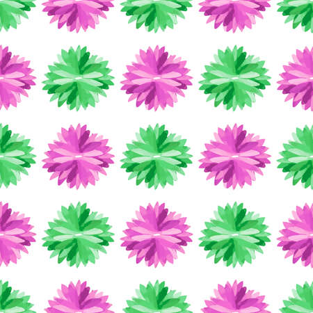 groene bloemen: Watercolor pattern made from purple and green flowers. Vector illustration