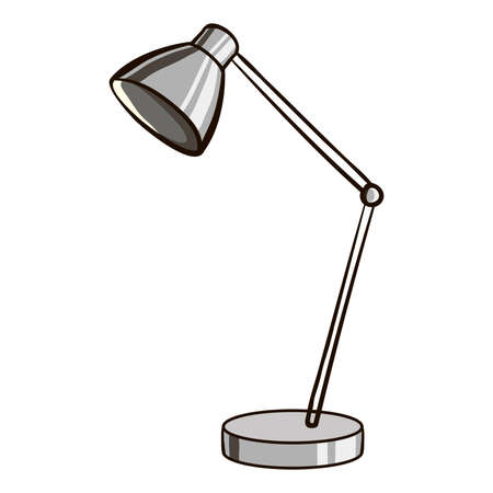 drawn metal: Hand drawn metal lamp on the white background. Vector illustration Illustration