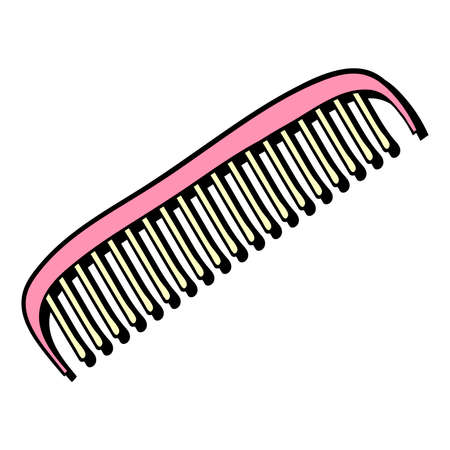 haircutter: Hand drawn comb for hair on the white background. Vector illustration. Illustration
