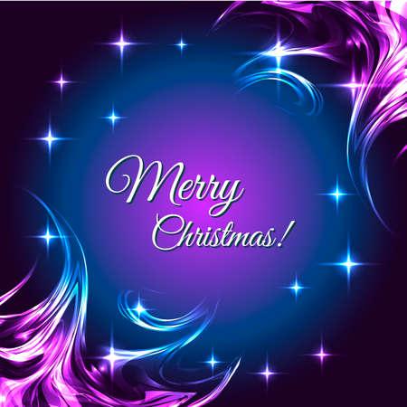 boreal: Christmas postcard with boreal stars. Vector illustration