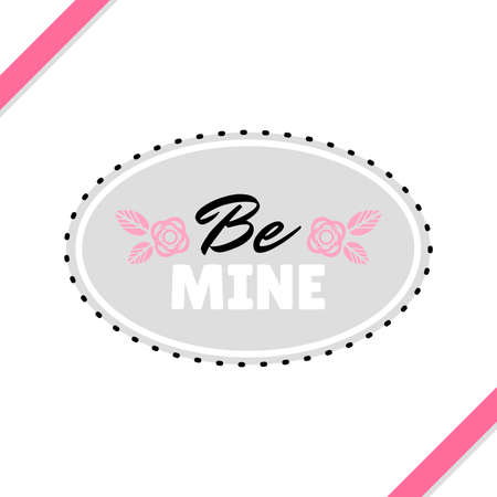 be: Be Mine Greeting Card Illustration