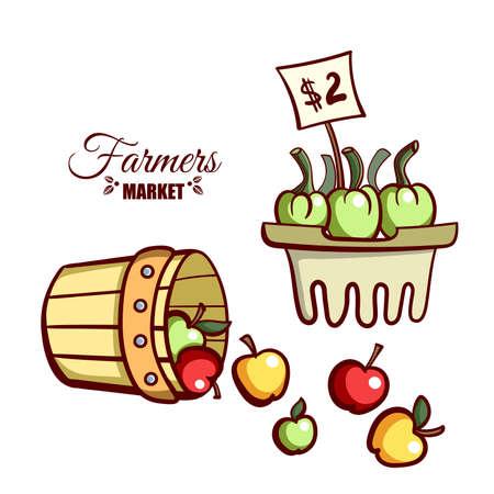 Farmers Market Apples Vegetables