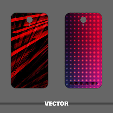 Bright covers for mobile phone. Vector illustration