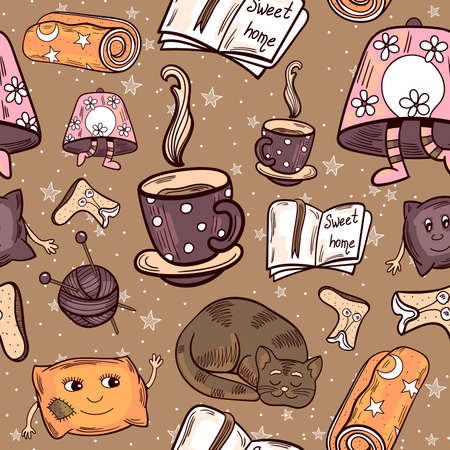 Cosy Home Seamless Pattern