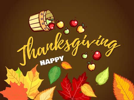Happy Thanksgiving Autumn Holiday