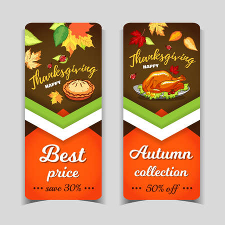 Happy Thanksgiving Day Banners